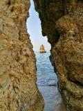 Lagos plaża Portugalia Zdjęcia Stock