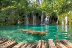 Lagos Plitvice da Croácia Foto de Stock