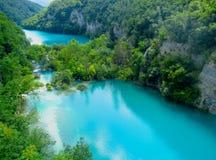 Lagos Plitvice del parque nacional en Croatia Fotografía de archivo
