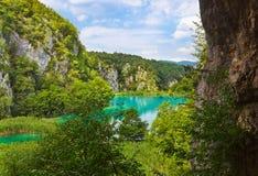 Lagos Plitvice em Croatia foto de stock