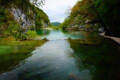 Lagos Plitvicka Jezera, Croácia Imagem de Stock