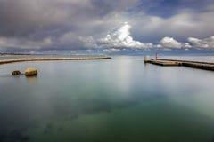 Lagos Ponta da Bandeira fortecy widok zdjęcia stock