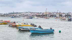 Lagos, Portugal - April, 21, 2017: Dilapidated fishing boats in stock images
