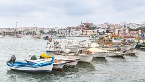 Lagos, Portugal - April, 21, 2017: Dilapidated fishing boats in stock photo