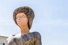 Lagos, Portugal - April, 23, 2017: Standbeeld van Dom Sebastiao in La royalty-vrije stock foto