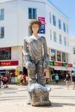 Lagos, Portugal - April, 23, 2017: Standbeeld van Dom Sebastiao in La stock foto's