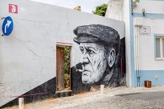 Lagos, Portugal - April, 22, 2017: Strteetkunst in Lagos, Alg royalty-vrije stock afbeelding