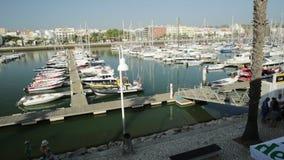 Marina de Lagos stock video footage