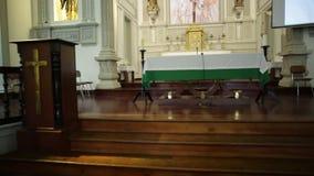 Santa Maria Church interior stock video footage