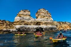 Ponta da Piedade rock formations Stock Images