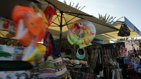 Lagos market street stock footage