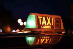 Lagos taxi sign.  Algarve Portugal Stock Images