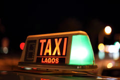 Lagos taxi sign.  Algarve Portugal Royalty Free Stock Image
