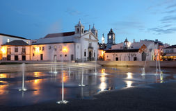 Lagos town square at dusk, Portugal Stock Photography