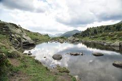 Lagos Tristaina en los Pirineos, Andorra foto de archivo libre de regalías