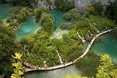 Lagos y cascadas Plitvice en Croatia Foto de archivo