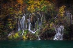 Lagos y otoño Plitvice Imágenes de archivo libres de regalías