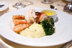 Lagosta e camarão Imagem de Stock Royalty Free