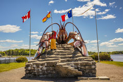 A lagosta a maior do ` s do mundo - Shediac Imagem de Stock