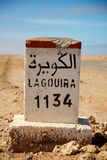 Lagouira 1134 km Stock Image