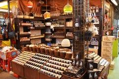 Lagra att sälja aromstearinljuset Arkivbild