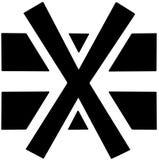 Lagra inte överlappat sätt inte någon annan ask på en annan ask tecken för varningssymbol på vit bakgrund Royaltyfri Bild