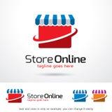 Lagra online-Logo Template Design Vector Royaltyfria Bilder