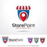 Lagra punkt Logo Template Design Vector Royaltyfri Illustrationer