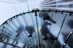 lagrar den glass nya trappan för äpplekuben york Arkivfoto