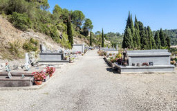 Lagrasse кладбища Стоковая Фотография