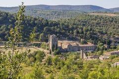 Lagrasse Abbaye, Francia Fotografía de archivo
