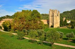 Lagrasse Abbey in southern France Stock Image