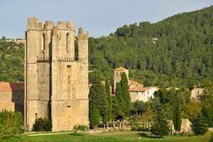 Lagrasse Abbey in southern France Royalty Free Stock Image