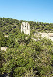Lagrasse abbotskloster Royaltyfri Foto