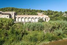 Lagrasse abbotskloster Royaltyfria Foton