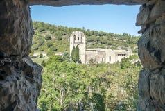 Lagrasse-Abtei Stockfoto