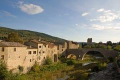 Lagrasse in de Languedoc Stock Foto