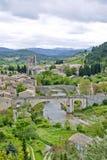 Lagrasse Dorf Frankreich stockbild