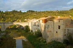 Lagrasse en el Languedoc Imágenes de archivo libres de regalías