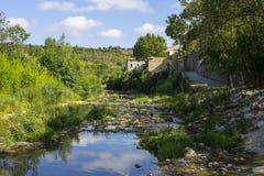 Lagrasse, Francia Imágenes de archivo libres de regalías