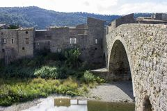 Lagrasse, Francia Imagenes de archivo