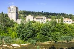 Lagrasse, Frankreich Lizenzfreies Stockbild