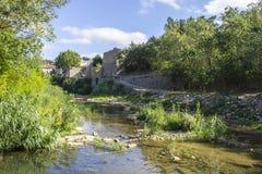 Lagrasse, Frankreich Stockfotografie
