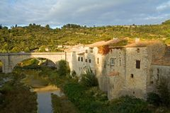 Lagrasse in the Languedoc Royalty Free Stock Images