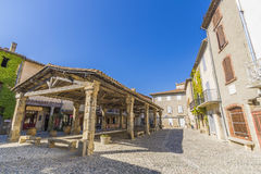 Lagrasse main square Royalty Free Stock Images