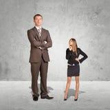 Lagre ung affärskvinna och småföretagare Fotografering för Bildbyråer