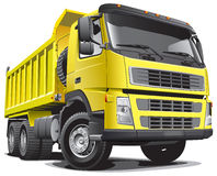 Lagre yellow truck. Detailed vectorial image of large yellow truck, isolated on white background. File contains gradients Royalty Free Stock Photos