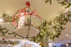 Lagret för Macy ` s Herald Square dekorerade för jul Royaltyfria Foton