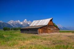Lagret för T A Den Moulton ladugården är en historisk ladugård i Wyoming, eniga Sta royaltyfria foton