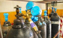 Lagring för gasbehållare Royaltyfri Fotografi